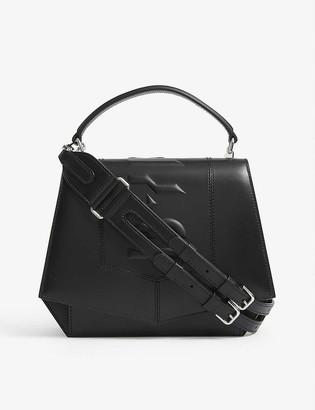 Byredo Blueprint logo-embossed leather shoulder bag