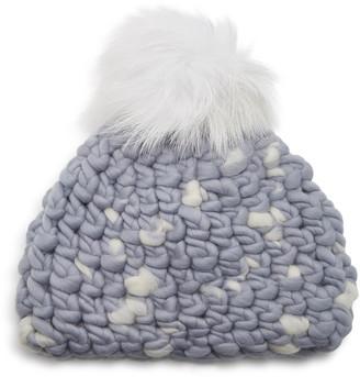 Mischa Lampert Speckled Wool Pom-Pom Beanie