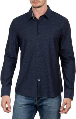 English Laundry Big Tall Paisley Jacquard Long-Sleeve Shirt