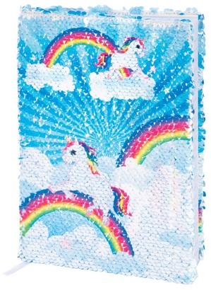 IS Gift Reversable Sequin Notebook Unicorn