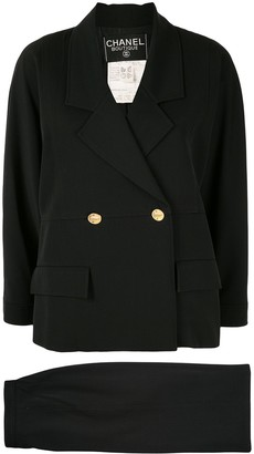 Chanel Pre Owned Double-Breasted Skirt Suit