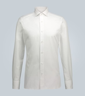Ermenegildo Zegna Trofeo long-sleeved cotton shirt