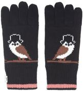 Yumi Knitted Owl Gloves Black