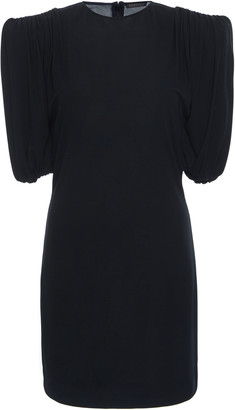 Versace Ruched Sleeve Crepe Dress