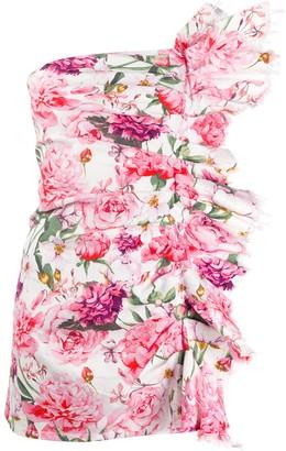 Laneus Floral Print Mini Dress