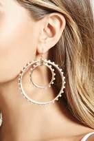Forever 21 FOREVER 21+ Faux Pearl Drop Hoop Earrings