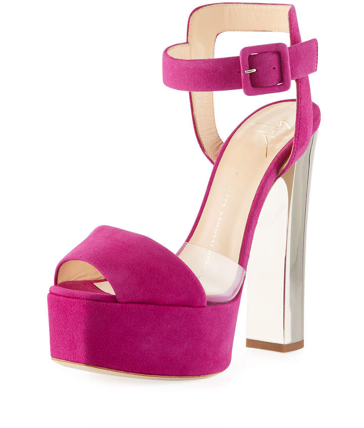 Giuseppe Zanotti Suede High Chunky Platform Sandal