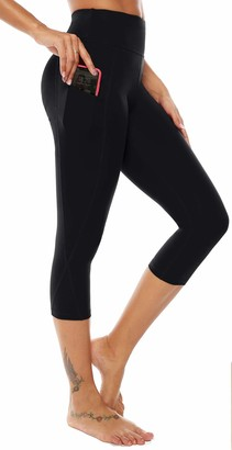 Equipment AOOM Sweat Pants with Side Pocket Workout Thighs Slimming Capris Leggings Body Shaper (Black