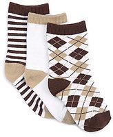Starting Out Baby Boys Argyle/Stripe Crew Socks 3-Pack