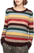 Gerard Darel Louka Wool Cashmere Blend Jumper, Multicolour