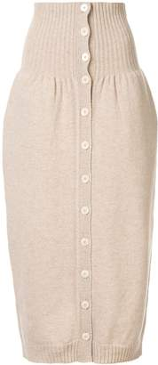 Lemaire high waisted knitted skirt