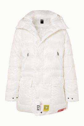BRUMAL R13 Hooded Quilted Shell Down Parka - White