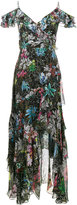 Peter Pilotto sleeveless ruffle floral print dress - women - Silk - 8