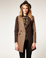 Asos Slim Coat In Heritage Check