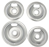 Range Kleen Style A Stovetop Drip Pan Set (1 Large / 3 Small)
