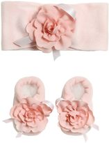 La Perla Rose Knit Socks & Headband