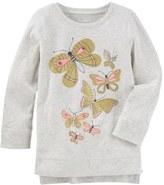 Osh Kosh Toddler Girl Butterfly High-Low Hem Graphic Tunic Top