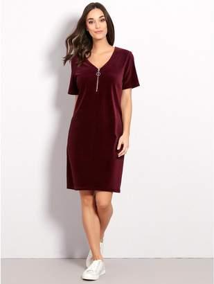 M&Co Cord zip front dress