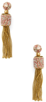 Deepa Gurnani Drop Chain Tassel Statement Earrings