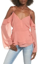 Leith Women's Cold Shoulder Wrap Top