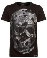 Philipp Plein Swarovski Camo Skull T-shirt
