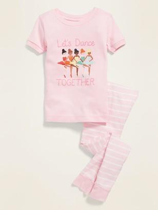 Old Navy Unisex Let's Dance Together Pajama Set for Toddler & Baby