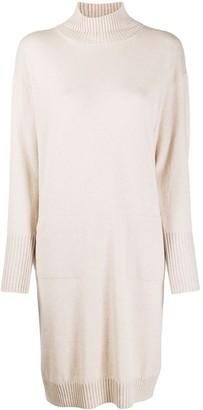 Peserico High-Neck Sweater Dress