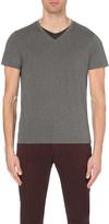 HUGO BOSS V-neck cotton t-shirt