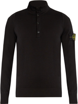 Stone Island Logo-patch cotton sweater