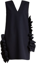 MSGM Ruffled stretch-crepe dress