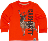 Carhartt Blaze Orange & Realtree Xtra® Deer Graphic Tee - Toddler