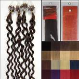 Hope 20'' Curly Loops Micro Ring Beads Tipped Human Hair Extenions 100S 04 Medium Brown Women Beauty Hairsalon Style Design 0.5g/s