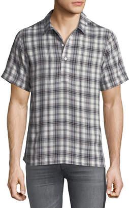 Ovadia & Sons Men's Ashkelon Plaid Polo Shirt