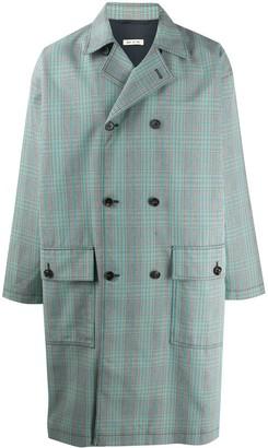 Marni Check Print Double-Breasted Coat