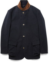 Loro Piana Storm System® Brushed-cotton Jacket With Detachable Gilet