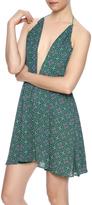 Olivaceous Printed Halter Dress