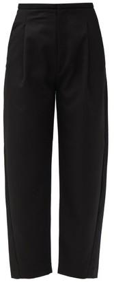 Totême Lumio Cropped Twill Trousers - Black