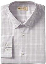 Haggar Men's Fitted Mechanical Stretch Pattern Dress Shirt