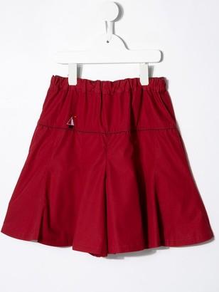 Familiar Flared Shorts