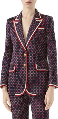 Gucci Geometric GG Jacquard Jacket
