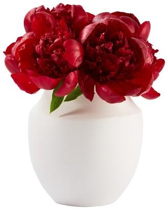 Indigo Classic Bouquet Vase White