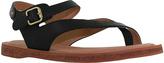 Gee WaWa Black Montana Leather Sandal