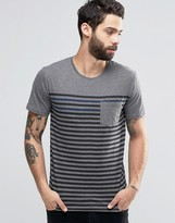 ONLY & SONS T-Shirt with Fine Breton Stripe