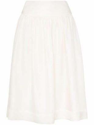 Deitas Shima high-waisted silk midi-skirt