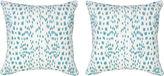 Miles Talbott Collection S/2 Spots 19.5x19.5 Pillows, Aqua