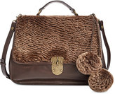 Patricia Nash Sherpa Shearling Cadiz Top-Handle Satchel
