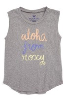 Roxy Girl's Aloha Graphic Muscle Tee