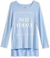 Epic Threads Not Today Long-Sleeve Graphic-Print T-Shirt, Big Girls (7-16), Only at Macy's