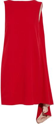 Valentino Draped Wool-crepe Mini Dress