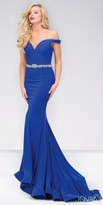 Jovani Jersey Off the Shoulder Mermaid Prom Dress